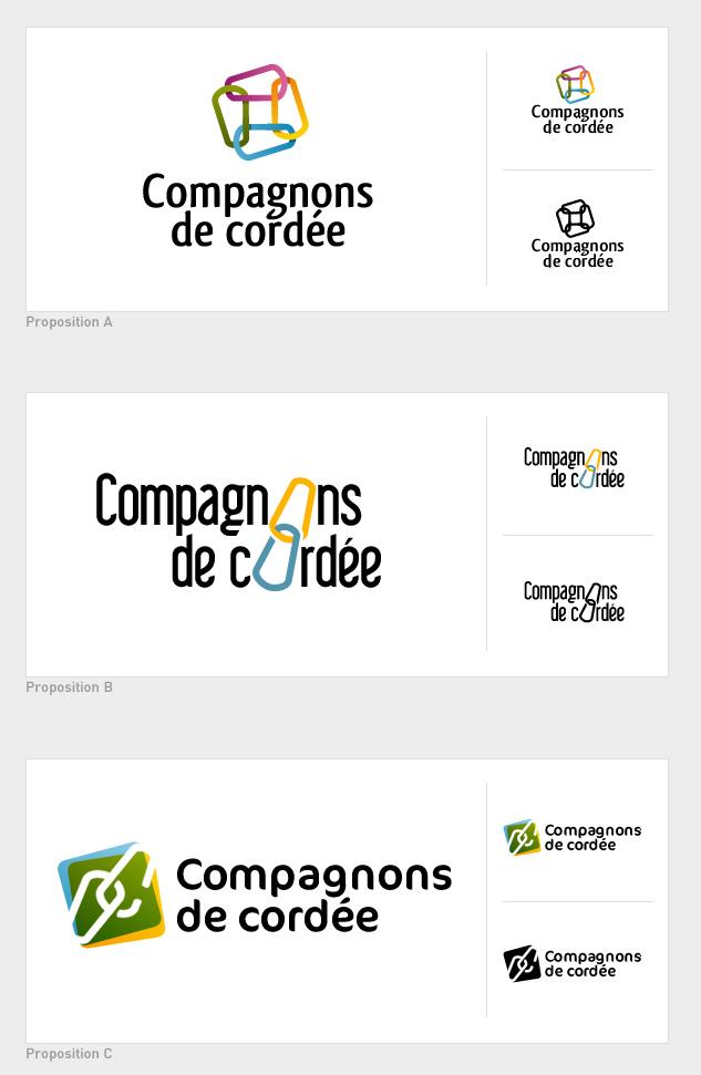 Logo Compagnons de cordée - premiers essais